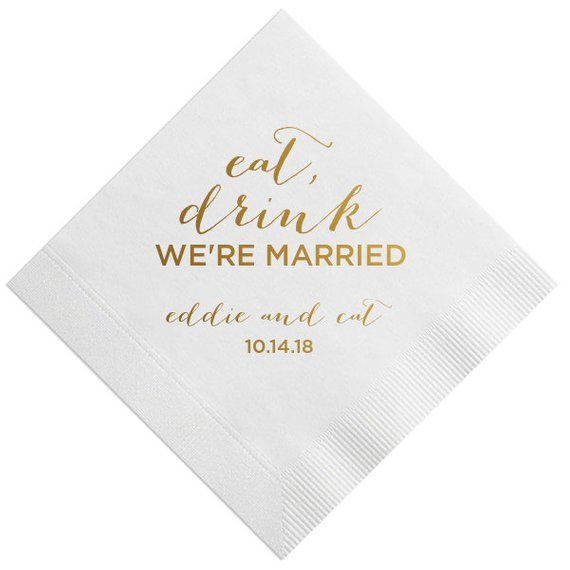 Pin On Personalized Wedding Napkins