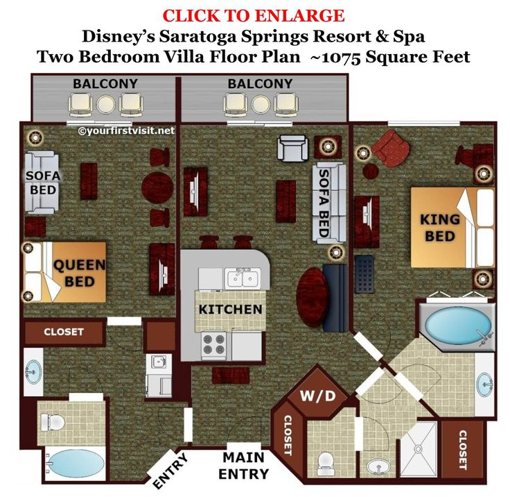 Theming and accommodations at disney 39 s saratoga springs for V villa 2 bedroom pantip