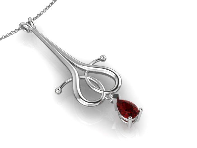 Whitegold with Ruby