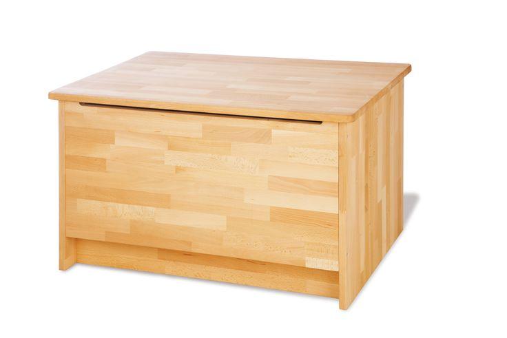 Produkt Detailinformationen: • Massiv: Buche, geölt • Holzstruktur sehr gut sichtbar • B 80 cm, T 55 cm, H 48 cm • Deckel mit Klappendämpfer • Belastbarkeit: 100 kg...