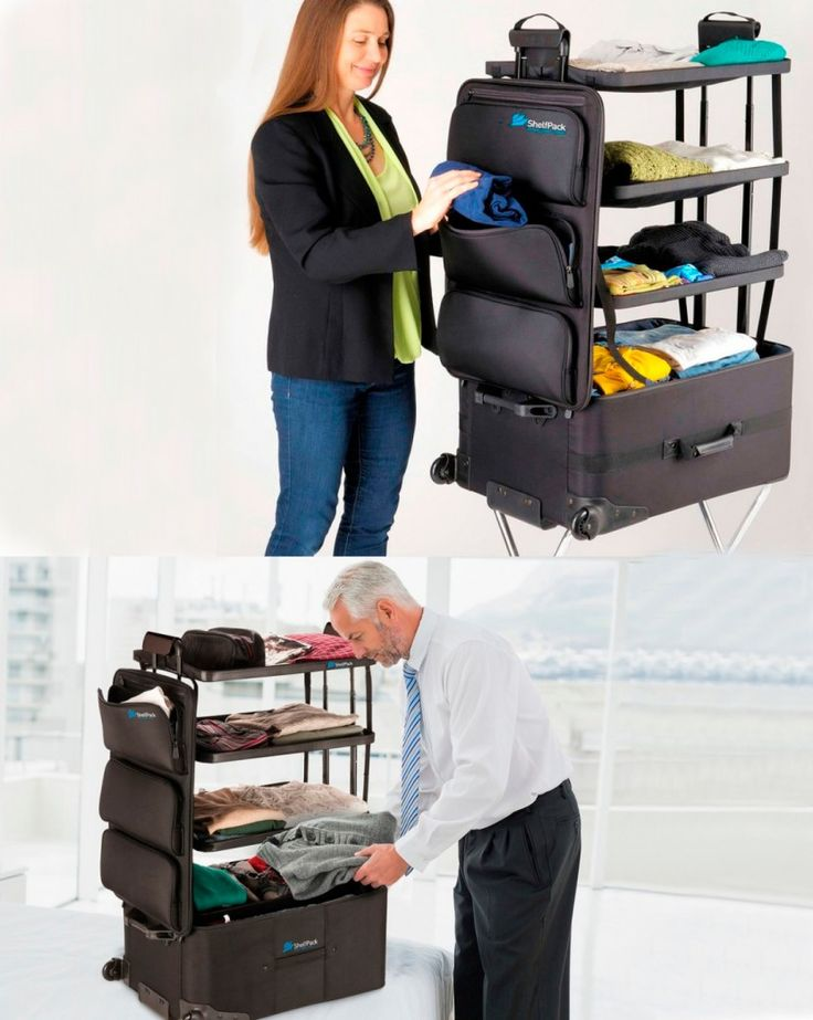 Stand Up Dresser Suitcase - Gift idea for travelers - This gift idea for travelers it's a portable closet! No need to unpack! No closet bar needed. A super convenient and super organized! Easy access front pockets. - $349.00