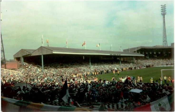 The Jungle as seen from the Celtic End during the Dundee match at the end of the Centenary season. A tad overcrowded that day.