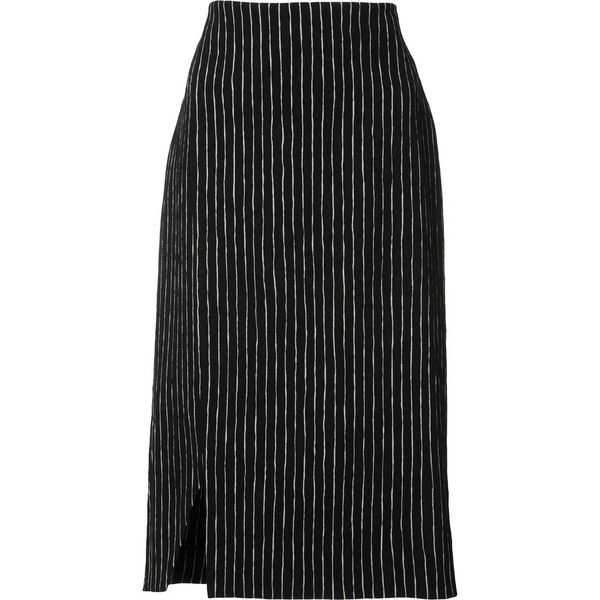 Protagonist - striped pencil skirt - women - Cotton/Viscose - 6 ($680) ❤ liked on Polyvore featuring skirts, black, striped skirts, pencil skirt, stripe skirt, striped pencil skirt and stripe pencil skirt