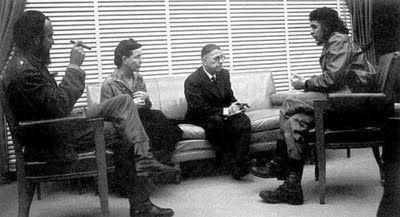Simone de Beauvoir and her partner Jean-Paul Sartre met Fidel Castro and Che Guevara 1960
