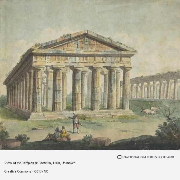 Unknown, View of the Temples at Paestum (18th century)