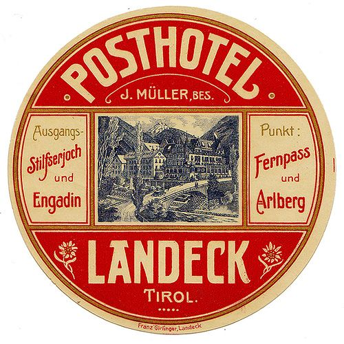 Austria - Landeck - Post Hotel by Luggage Labels