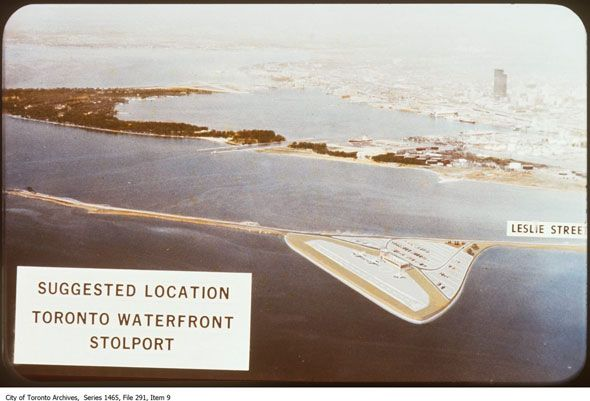 That time Toronto pondered an airport in the Port Lands