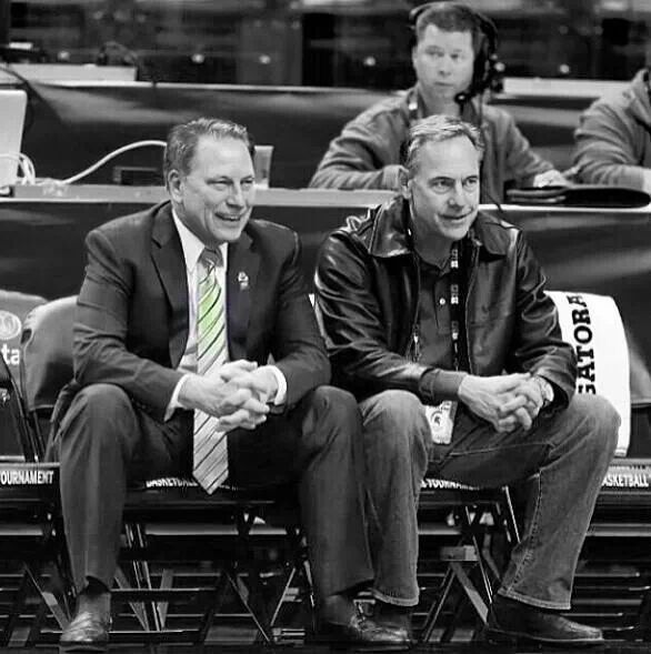 Best coaches in the nation!! Tom Izzo and Mark Dantonio