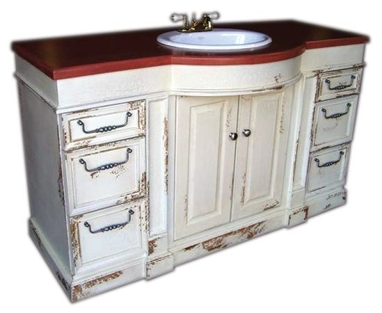 Drawer large bow front vanity cabinet with drawers by for British traditions kitchen cabinets