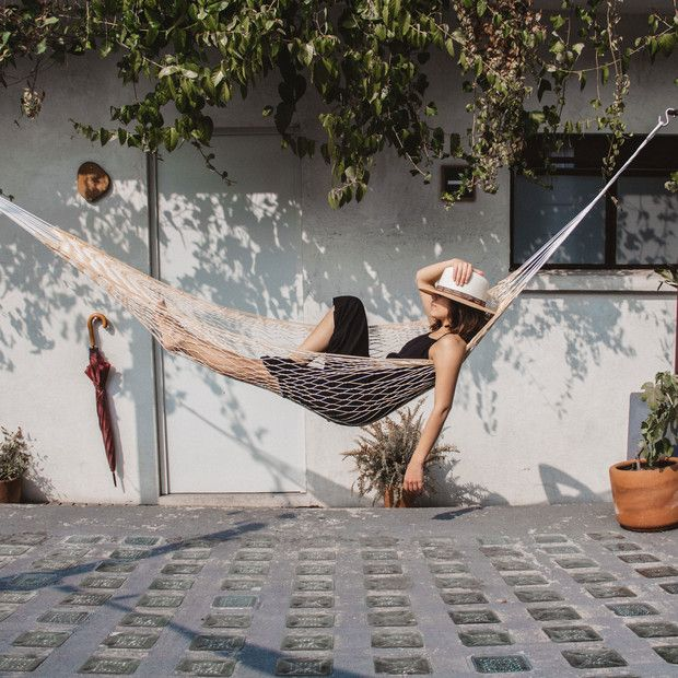 Outdoor Hammock, Outdoor Decor, Outdoor Living, Hobbies To Take Up, Welcome Summer, Outdoor Theater, Two Trees, Take Off Your Shoes, Partner Yoga