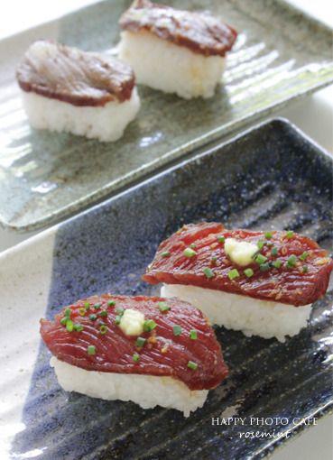 馬刺しの漬けにぎりと炙り by ローズミントさん | レシピブログ - 料理 ...