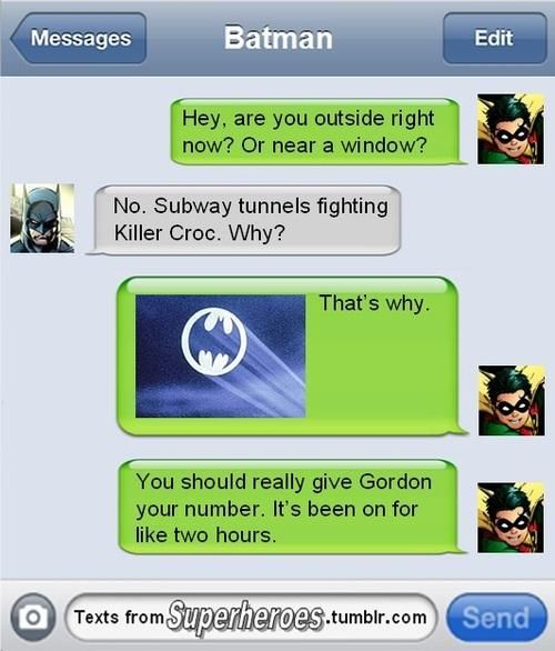 Texts From Superheroes Deliver Bam! Pow! Funnies