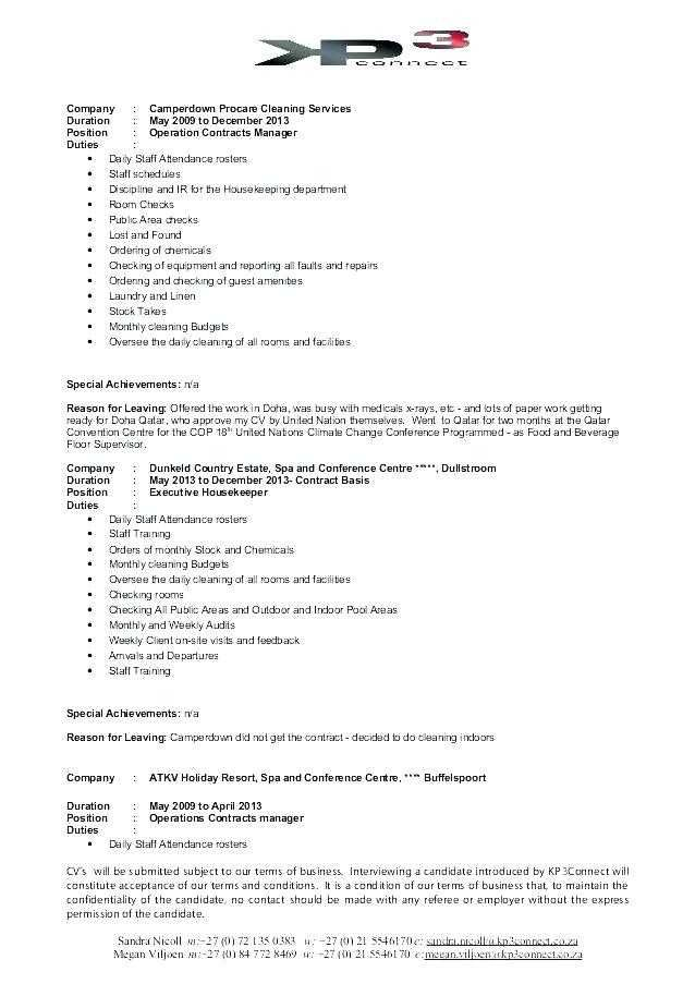 Good Professional Housekeeping Resume Example Professional Resume Templates Resume Examples Job Resume Examples Sample Resume