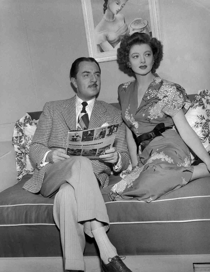William Powell and Myrna Loy as Nick and Nora Charles, The Thin Man Goes Home (1945)