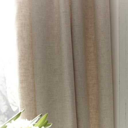 Natural Saki Thermal Pencil Pleat Curtains