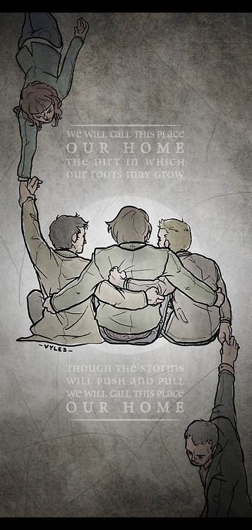 Home_SPN Fan art< Hannah and Crowley can never pull Team Free Will apart