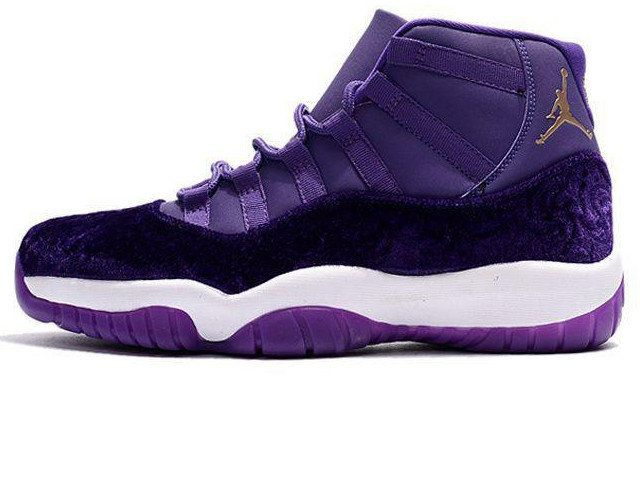 73808b42d50 Women Nike Air Jordan 11 Velvet Receipt XI Retro purple Heiress ...