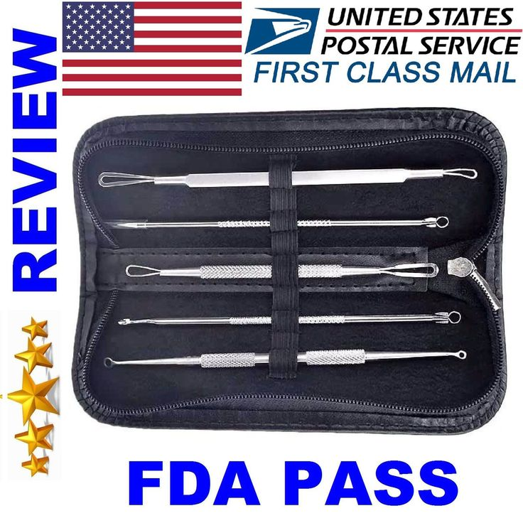 Item specifics    									 			Condition:  												 																	 															  															 															 																New: A brand-new, unused, unopened, undamaged item (including handmade items). See the seller's  																  																		... - #SkinCare https://lastreviews.net/health-beauty/skin-care/5pcs-blackhead-acne-comedone-pimple-blemish-extractor-remover-stainless-tool-kit/