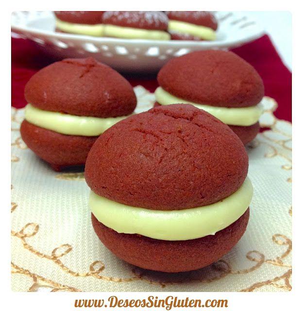 Deseos Sin Gluten: WHOOPIES RED VELVET SIN GLUTEN