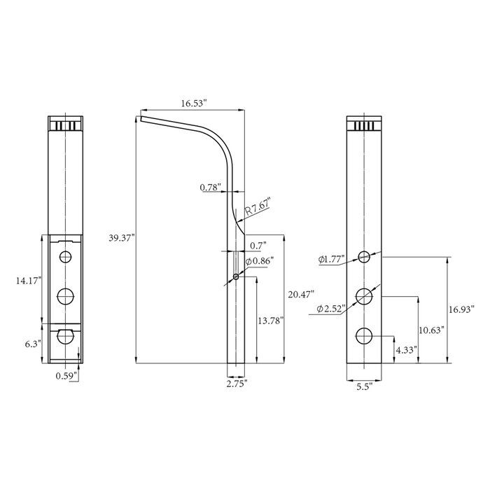 Thermostatic 39 37 Shower Panel Dual Head Shower Panels