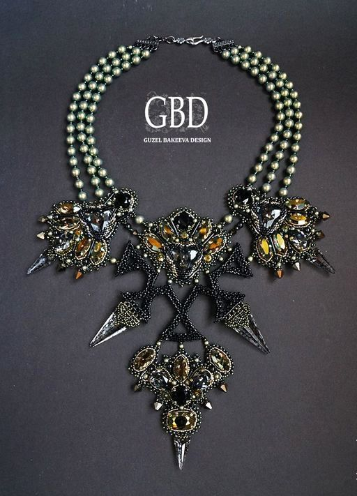Design of the day - Guzel Bakeeva necklace Star | Beads Magic