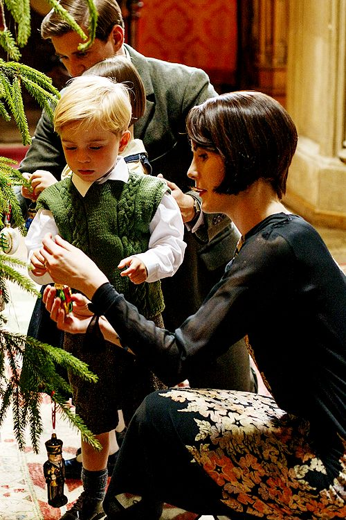 Lady Mary Crawley and George Crawley, Downton Abbey Christmas Special 2014