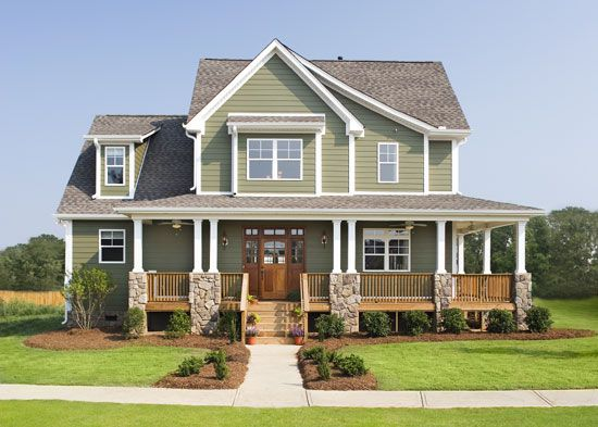 10 best images about exterior on pinterest craftsman for Normal home front design