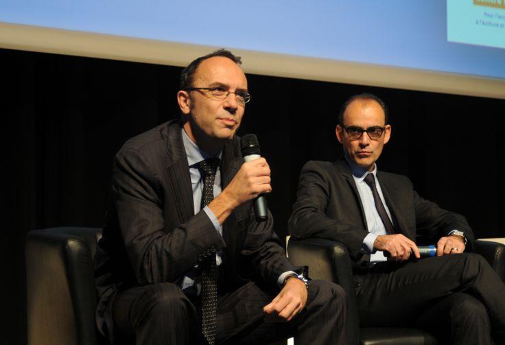 de G à D : Antoine Godbert (Directeur de l'Agence Europe Education-Formation France) et Hervé Fernandez (Directeur de l'ANLCI). Copyright photographique : ANLCI