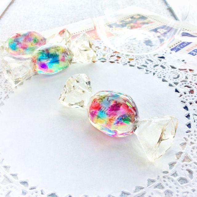 虹のかけらのキャンディブローチ【受注生産】(ブローチ以外の仕上げも選べます)