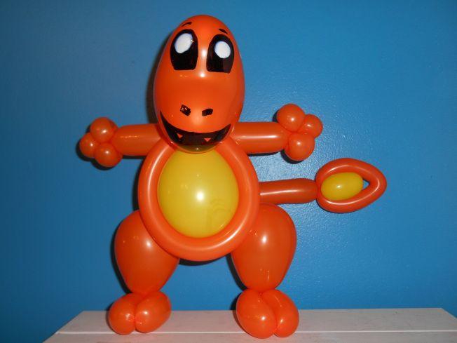 343rd balloon sculpture charmander - Halloween Balloon Animals