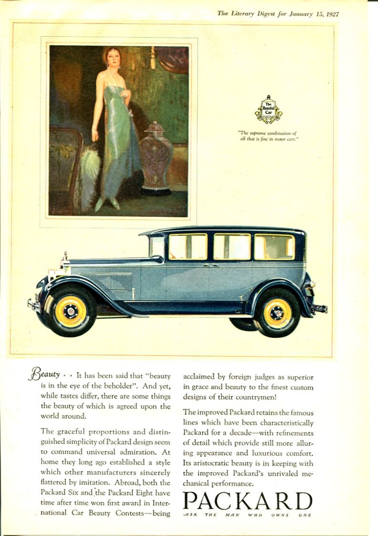 18 best Packard Car Ads images on Pinterest | Car advertising, Retro ...
