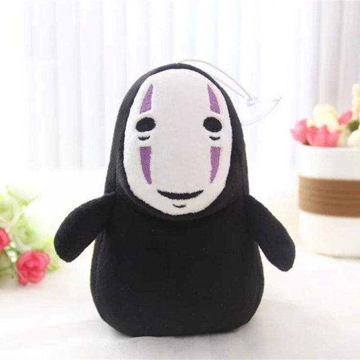 15cm Spirited Away Faceless Man No Face Plush Pendant No Face Ghost Kaonashi Stuffed Plush