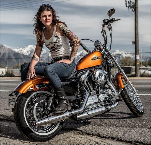 38 best female biker tattoos images on pinterest biker for Biker chick tattoos