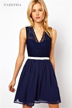 TABITHA MIDI dámské šaty, středně dlouhé šaty