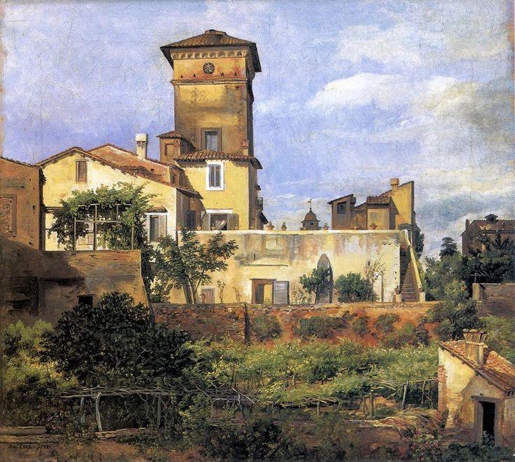 Johan Christian Claussen Dahl  Scene of the Villa Malta  1821