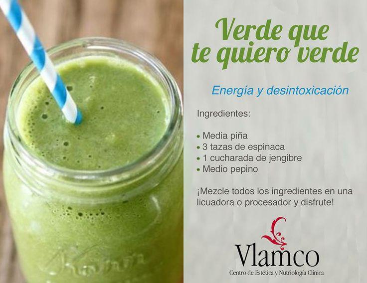 Verde que te quiero verde! Receta para un delicioso green smoothie