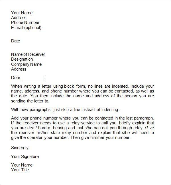 Formal Letter Format Business Letter Format Formal Business Letter Format Formal Business Letter