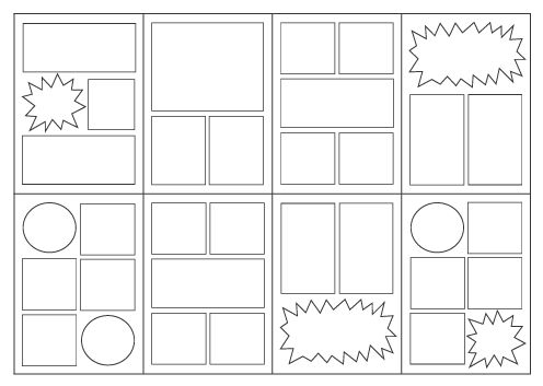 Frames for drawing and writing comics are printed on quality paper and staple-bound in a cardstock cover. Description from skybluepink.com. I searched for this on bing.com/images