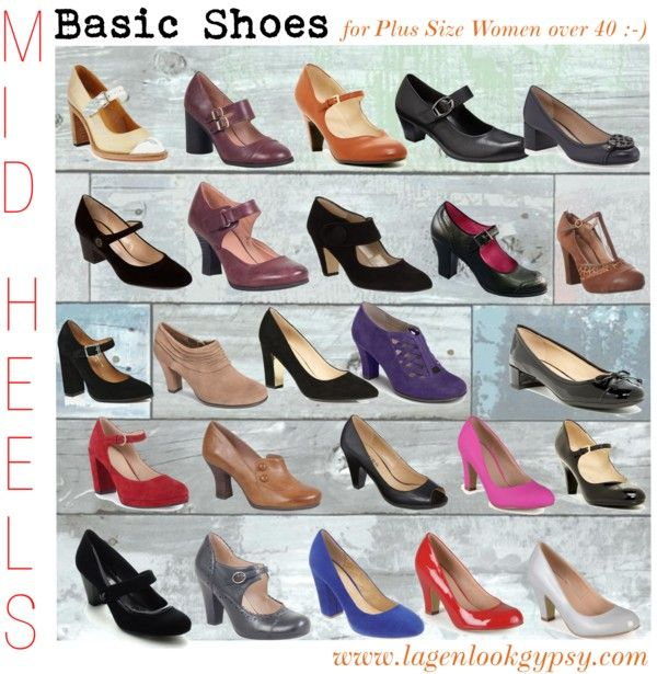 Basic Shoes for Plus Sizes over 40 - Mid Heels
