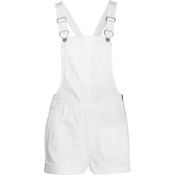 Madewell Adirondack denim overalls ($175) ❤ liked on Polyvore featuring jumpsuits, overalls, shorts, dresses, full body, jumpers, white, white denim overalls, denim overalls and white bib overalls