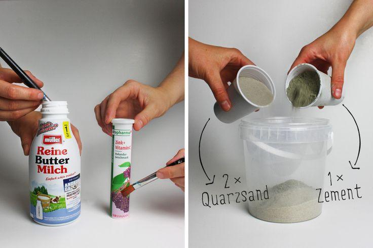 BetBetonvase Flasche Kerzenständer DIY Anleitungonvase Flasche Kerzenständer DIY Anleitung