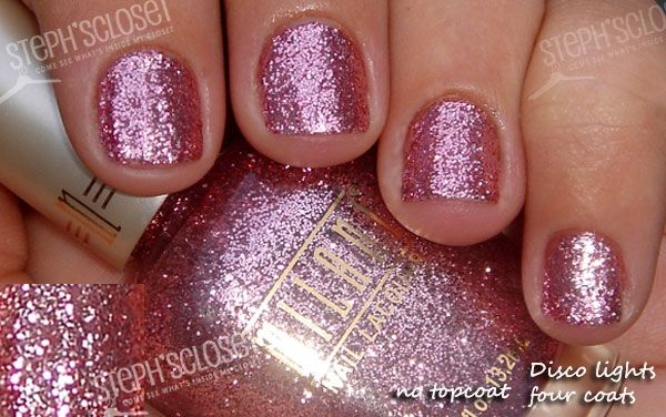 One of my favorite nail polish colors. Pink Disco Lights by Milani