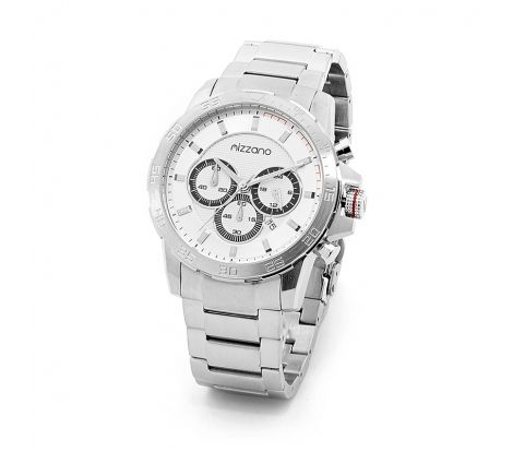 Mizzano Mens heavy chrono silver watch