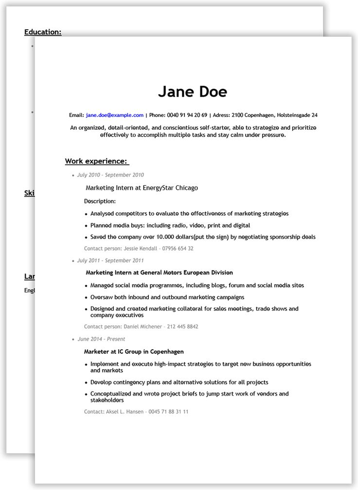Bad résumé example Free resume builder, Resume, Resume