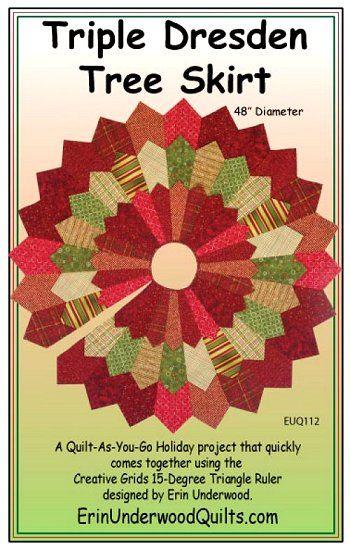 tree skirts patterns | Triple Dresden Tree Skirt Pattern - The Virginia Quilter