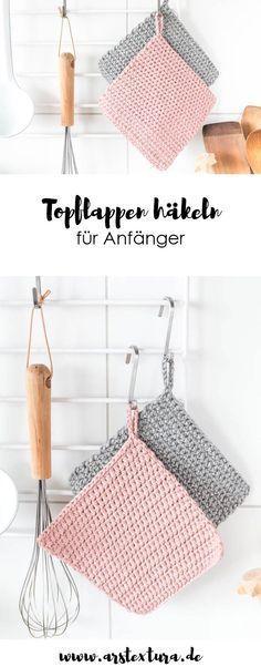 Topflappen häkeln für Anfänger #knittingpatterns