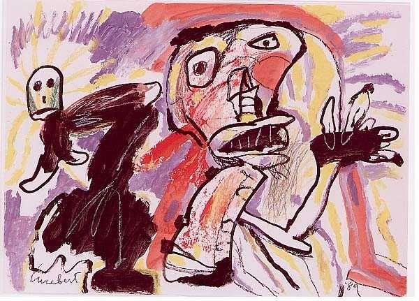 Lucebert. Dutch artist of the COBRA movement.