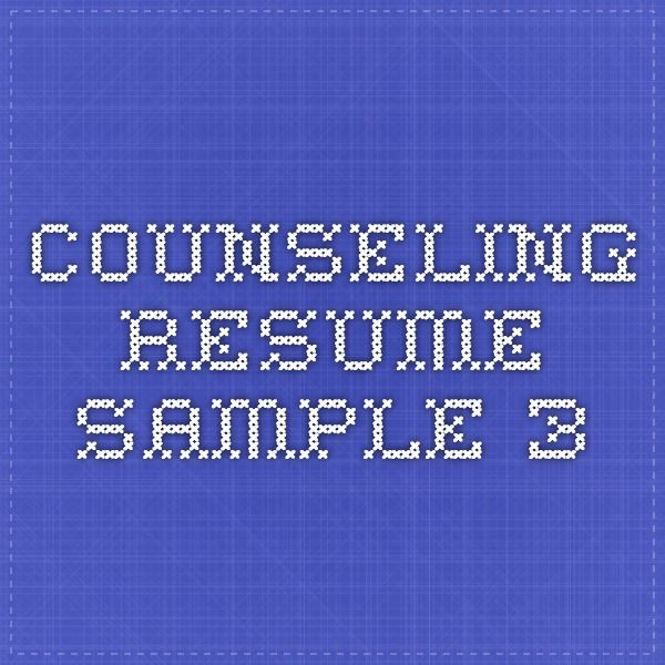 7 best Resume images on Pinterest Resume ideas, Resume tips and - counseling resume
