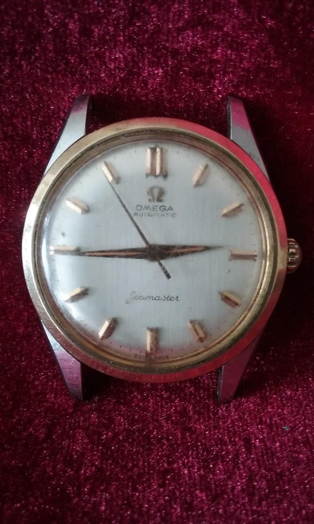 Vintage Mens 1960's Omega Automatic Seamaster Swiss Made Gold Silver Tone Watch