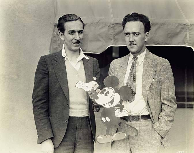 In 1928, Walt Disney and Ub Iwerks came up with a new character: Mortimer Mouse. Lillian thought it was a terrible name and instead came up with Mickey. Credit: Disney Family Museum